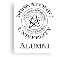 Miskatonic University - Alumni Canvas Print