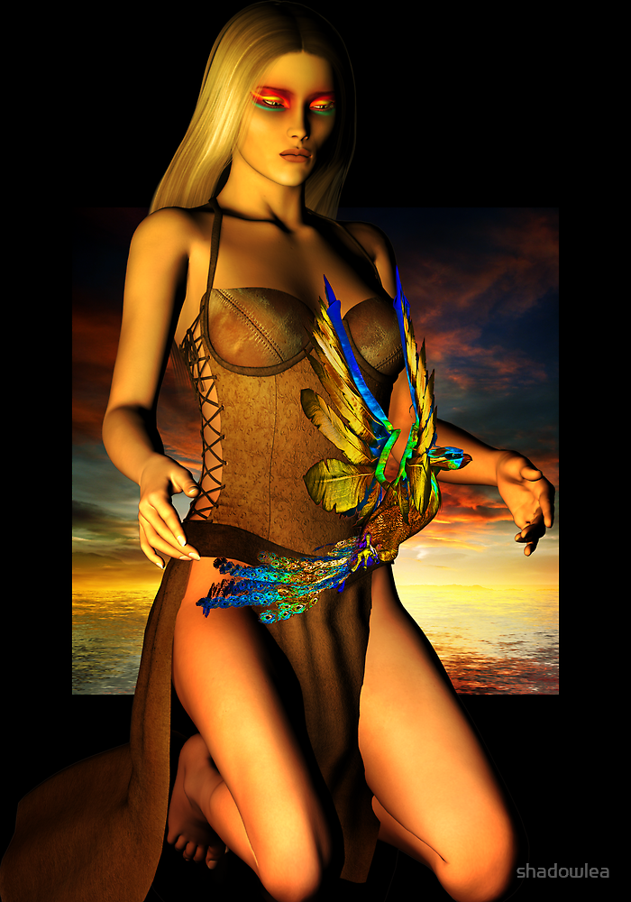 female phoenix by shadowlea