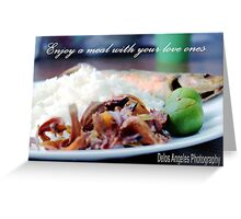 Enjoy a meal Greeting Card