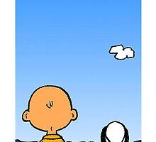 Snoopy Charlie on the beach  by geneoart
