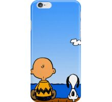 Snoopy Charlie on the beach  iPhone Case/Skin
