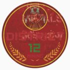 District 12 Round sticker by wiccked