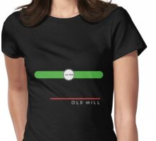 Old Mill station (west end, subsurface) Womens Fitted T-Shirt