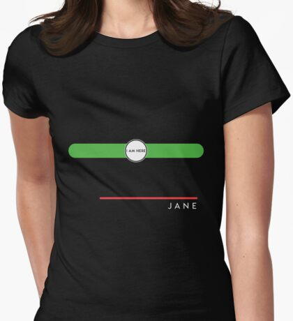 Jane station Womens Fitted T-Shirt