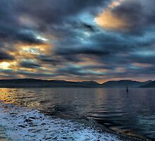 Sunset over the Clyde looking towards Holy Loch & Dunoon by Derick Gray