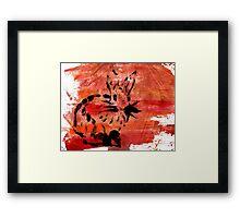 Sunset Cute Rabbit Framed Print