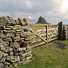 From behind the gate .Lindisfarne Castle. by Kit347