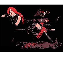 Lounge Act - Gothic Comic Style Art Photographic Print