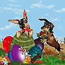 Eggsters on Easter Duty by Bine