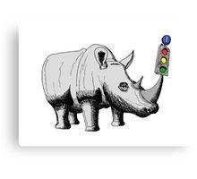 Rhino Signal Canvas Print