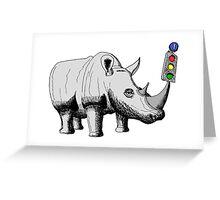 Rhino Signal Greeting Card