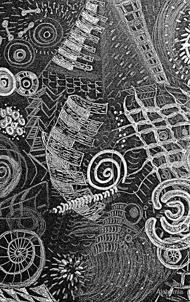 Rock Art Drawing by Alchemia
