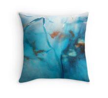 blue luminosity Throw Pillow