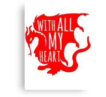 Merlin With All My Heart Dragon Canvas Print