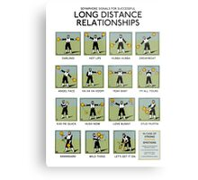 Long Distance Relationships poster - Successful Metal Print