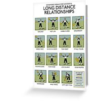 Long Distance Relationships poster - Successful Greeting Card