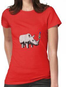 Rhino Signal Womens Fitted T-Shirt