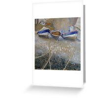 Fishing Boats in Staithes Beck Greeting Card