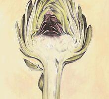 Artichoke II Print by cathy savels