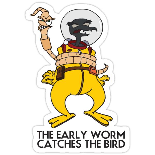 The Early Worm Catches The Bird by RetroReview