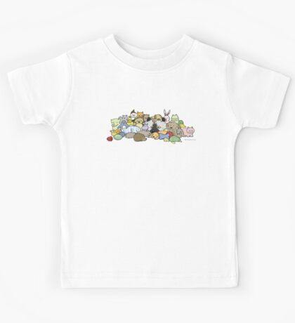 Keeshond with Toys Kids Tee
