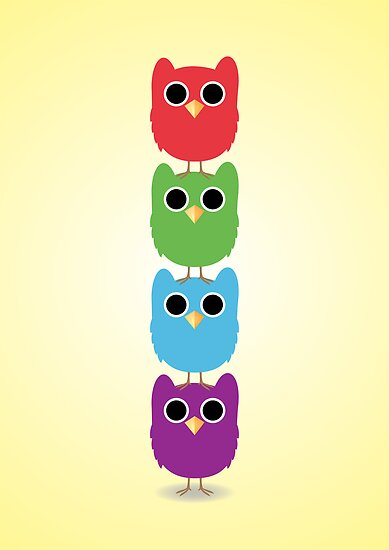 Owl Buddies by MrAparagi