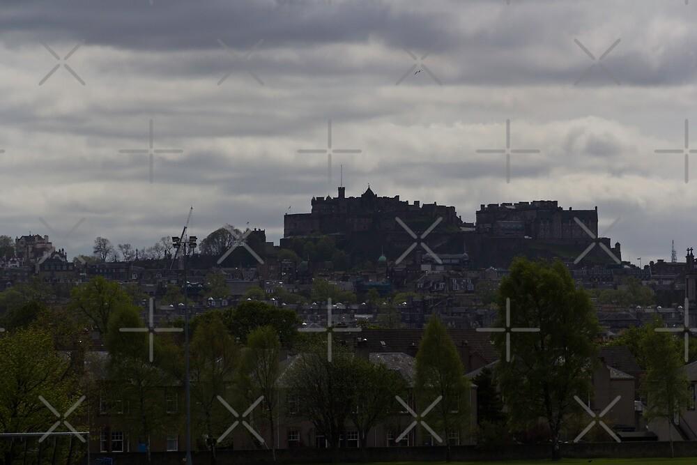 The splendor of Edinburgh Castle, located on a height overlooking all of Edinburgh by ashishagarwal74