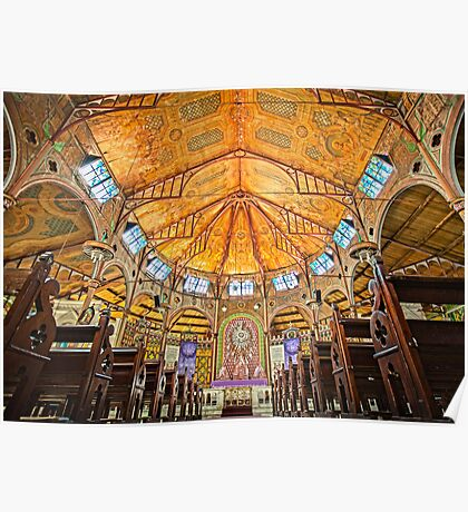 Cathedral Basilica of the Immaculate Conception in Castries Poster