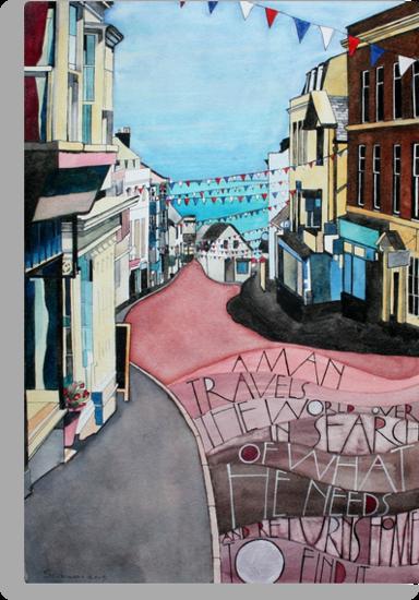 Lyme Regis - during Lifeboat Week by samcannonart