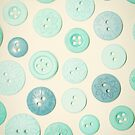 Vintage Blues Button Love by Sharon Johnstone