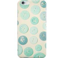 Vintage Blues Button Love iPhone Case/Skin