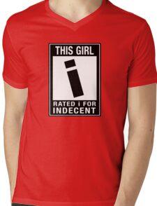 RATED I for INDECENT Mens V-Neck T-Shirt