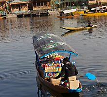 Groceries on a shikara on the Dal Lake in Srinagar by ashishagarwal74