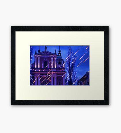 Comets Framed Print