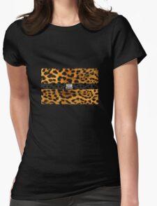 RAW**** X LEOPARD PRINT Womens Fitted T-Shirt
