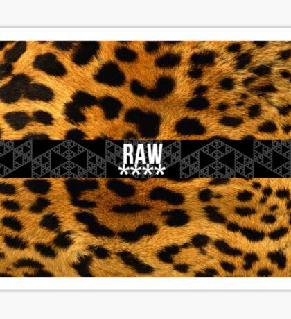 RAW**** X LEOPARD PRINT Sticker