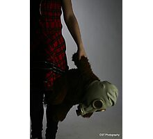 Girl and Teddy Photographic Print