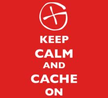 KEEP CALM and CACHE ON 1 One Piece - Short Sleeve