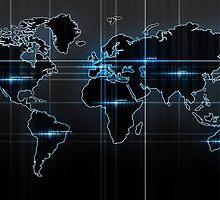 World Map by Brigitta Frisch