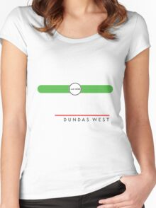 Dundas West station Women's Fitted Scoop T-Shirt