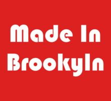 Simon's Made in Brooklyn Tee (white) One Piece - Short Sleeve