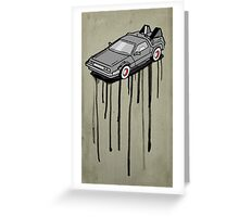 Delorean Drip Greeting Card