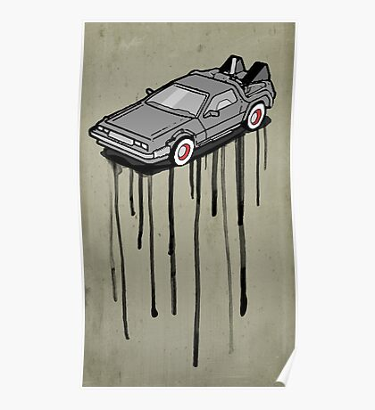 Delorean Drip Poster