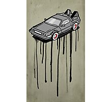 Delorean Drip Photographic Print