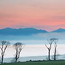 Arran Misty Sunset from Portencross Road by George Crawford