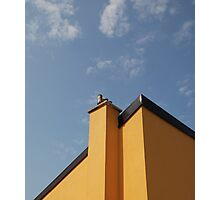 Yellow Building Against Blue Sky, Piran Photographic Print