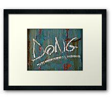 DONG Framed Print