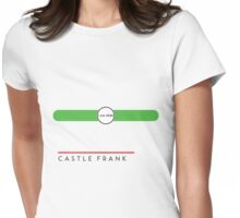 Castle Frank station Womens Fitted T-Shirt