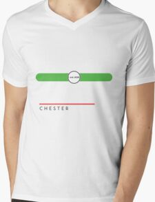 Chester station Mens V-Neck T-Shirt