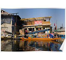 Floating shop (shikara) along with another shop Poster